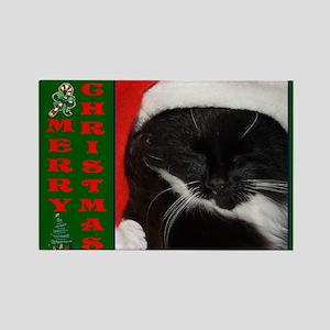 Little Christmas Cat Rectangle Magnet