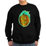 Flaming Jackolantern Halloween Pumpkin Sweatshirt
