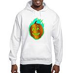 Flaming Jackolantern Halloween Pumpkin Hoodie