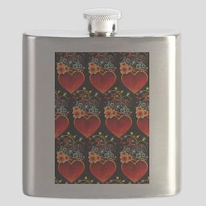 Valentine Floral Heart Love Flask