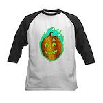 Flaming Jackolantern Halloween Pumpkin Baseball Je