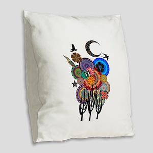 DESERT SURREAL Burlap Throw Pillow