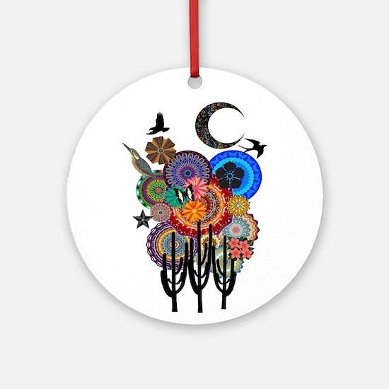 DESERT SURREAL Round Ornament
