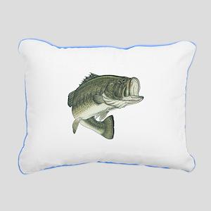 big bass Rectangular Canvas Pillow