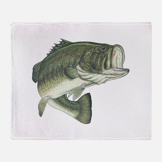 big bass Throw Blanket