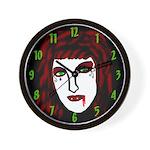 Dark Vampire Wall Clock