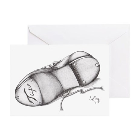 Pencil - Jazz Tap Shoe Greeting Cards (Package of
