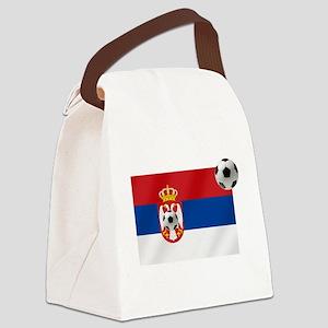 Serbia Football Flag Canvas Lunch Bag