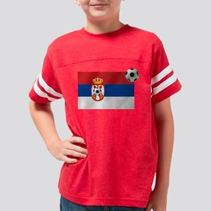 Serbia Football Flag Youth Football Shirt