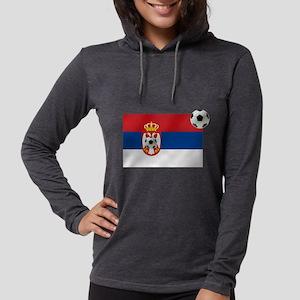 Serbia Football Flag Womens Hooded Shirt