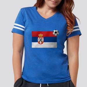 Serbia Football Flag Womens Football Shirt