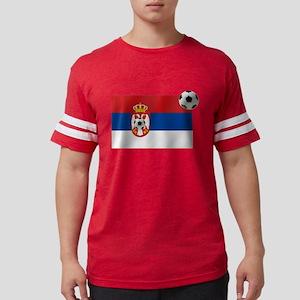 Serbia Football Flag Mens Football Shirt