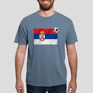 Serbia Football Flag Mens Comfort Colors Shirt