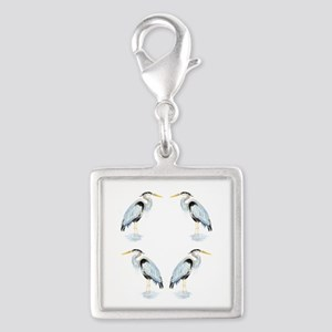 Watercolor Great Blue Heron Bird Charms