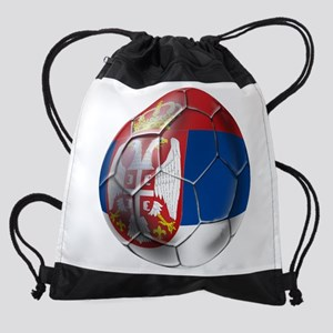 Serbian Football Drawstring Bag