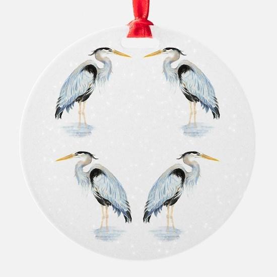 Watercolor Great Blue Heron Bird Ornament