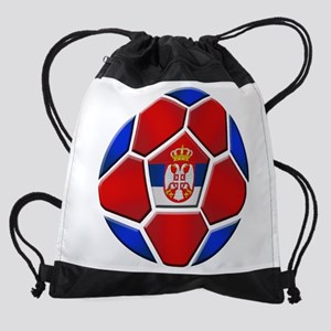 Serbia Soccer Football Drawstring Bag