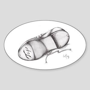 Pencil - Jazz Tap Shoe Oval Sticker