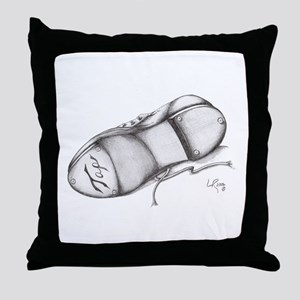 Pencil - Jazz Tap Shoe Throw Pillow