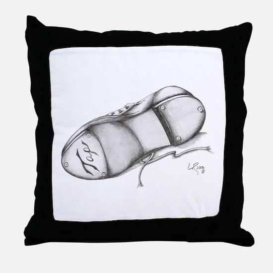 Pencil - Jazz Tap Shoe Throw Pillow