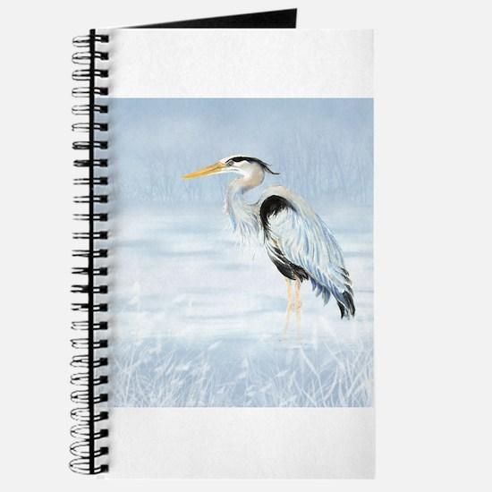 Watercolor Great Blue Heron Bird Journal