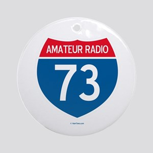 Amateur Radio Interstate Sign Ornament (Round)