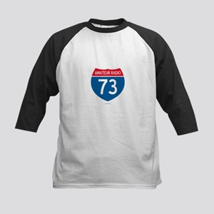 Amateur Radio Interstate Sign Kids Baseball Jersey