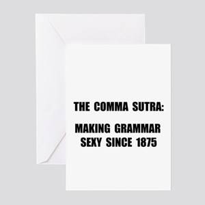 Comma Sutra Sexy Black Greeting Cards (Pk of 20)