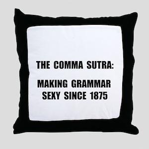 Comma Sutra Sexy Black Throw Pillow
