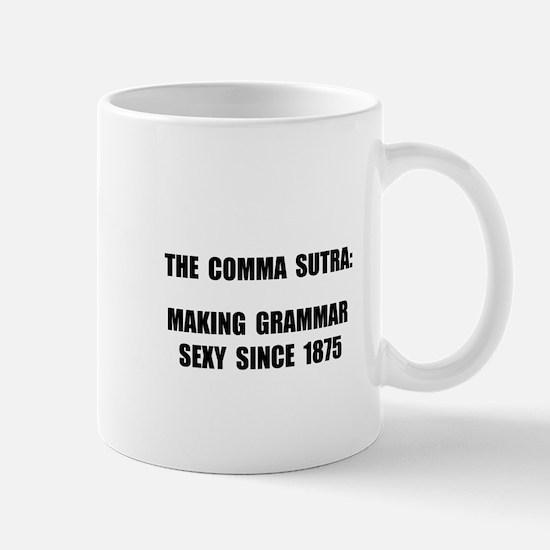 Comma Sutra Sexy Black Mug