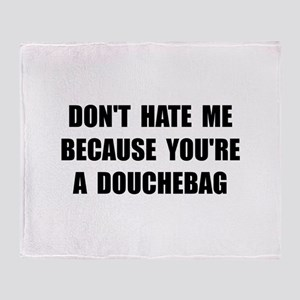 Douchebag Throw Blanket