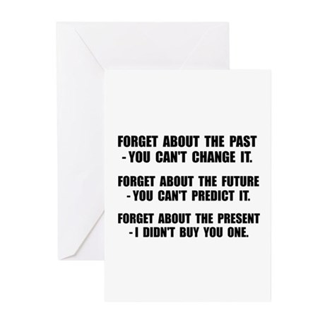 Forget Present Greeting Cards (Pk of 20)