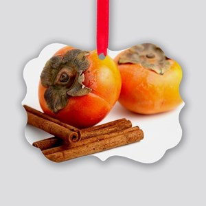 Persimmon Cinnamon Picture Ornament