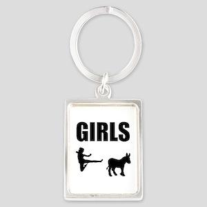Girls Kick Ass Keychains