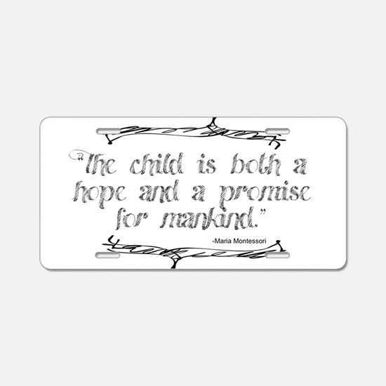 Hope Promise Aluminum License Plate
