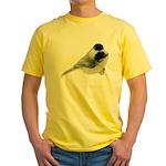 Black-Capped Chickadee Yellow T-Shirt