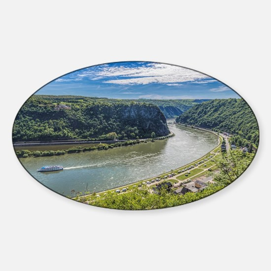 Cute Rhine river Sticker (Oval)