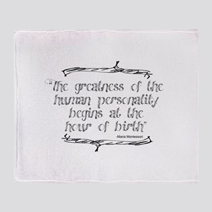 Greatness From Birth Throw Blanket