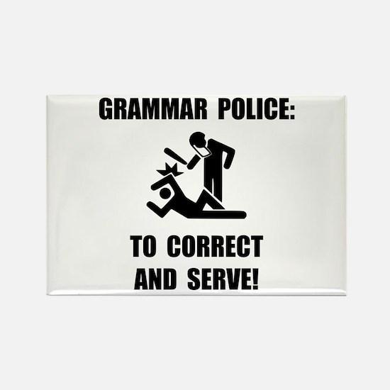 Grammar Police Rectangle Magnet (10 pack)