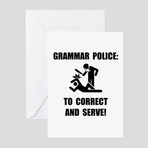 Grammar Police Greeting Cards (Pk of 20)