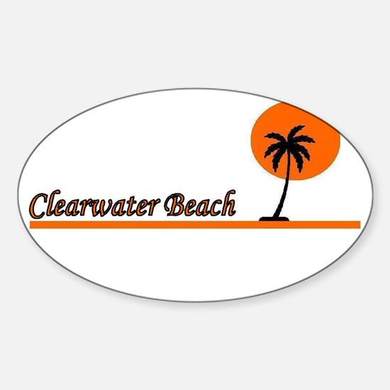 Clearwater Beach, Florida Oval Decal