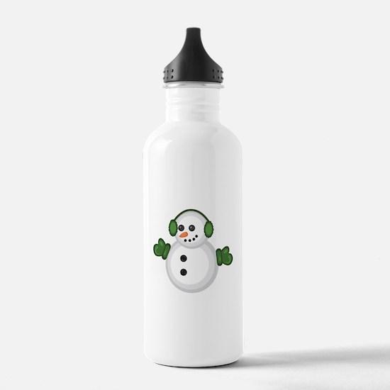 Christmas Snowman Sports Water Bottle