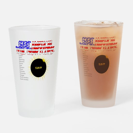 The Great American Total Solar Eclipse Drinking Gl