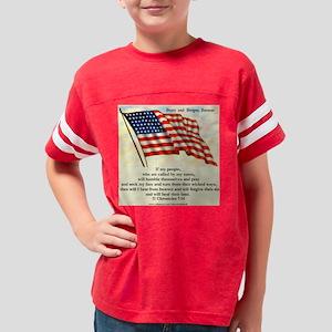 II Chronicles 7:14 Youth Football Shirt