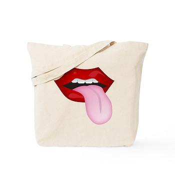 Tongue Out Tote Bag