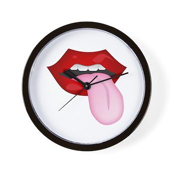 Tongue Out Wall Clock