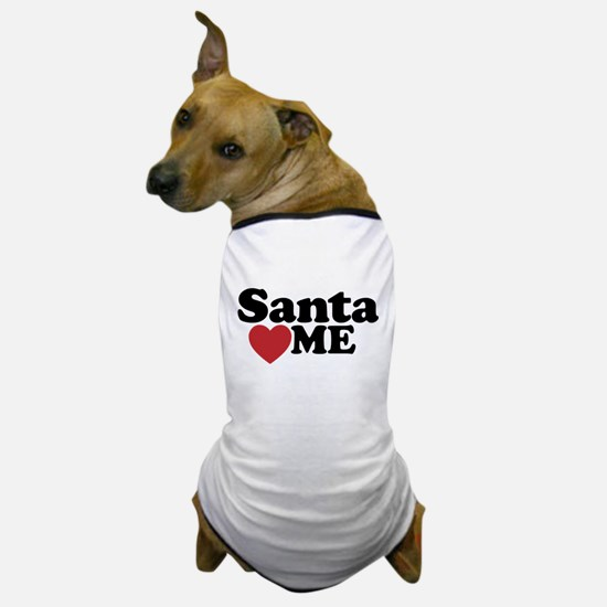 Santa Loves Me Dog T-Shirt