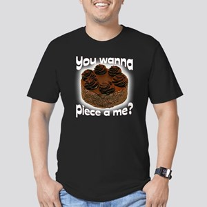 You wanna piece a me B Men's Fitted T-Shirt (dark)