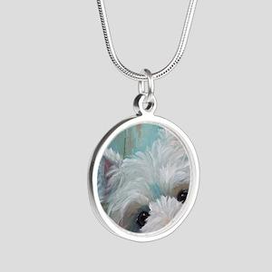 Drip Silver Round Necklace