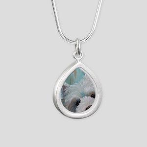 Drip Silver Teardrop Necklace